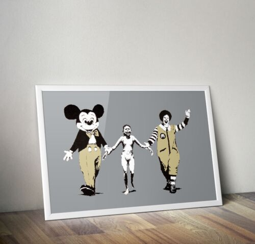 Banksy Mickey /& Ronald  Art Poster Print Picture A3 A4