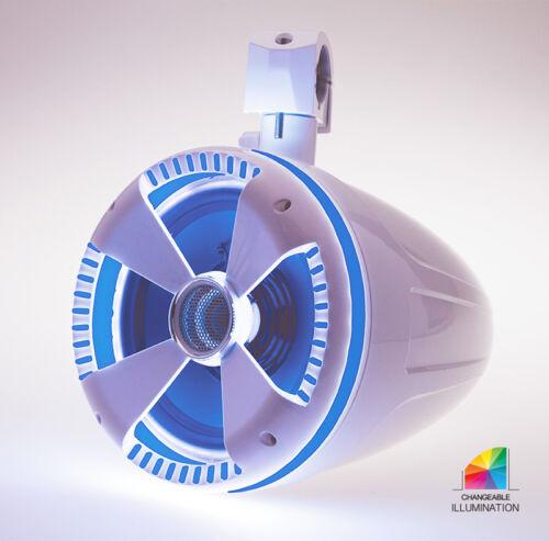 "NEW SOUNDSTREAM LED-8RGB PAIR OF 8"" RGB LED SPEAKER RINGS MARINE AUDIO LED RGB"
