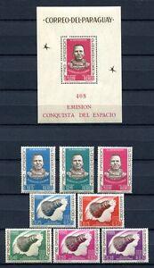 PARAGUAY-1963-Space-Raumfahrt-1233-1240-Block-46-MNH