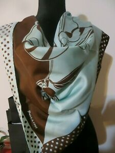 NEW-POLLINI-100-SILK-SCARF-34-034-x-34-034-MADE-IN-ITALY