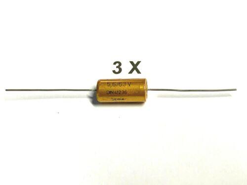 Bipolar Roederstein  EBT 63V 105° 3 Stück Elektrolyt-Kondensator 5,6uF