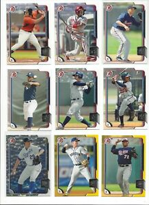 2015-BOWMAN-PROSPECTS-w-PARALLELS-SILVER-ICE-YELLOW-BORDER-U-PICK