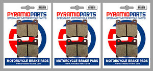 Front & Rear Brake Pads (3 Pairs) for Yamaha FZR 500 (Austria) 1989