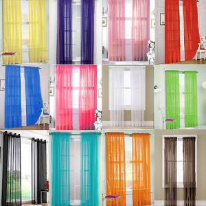 1-2-Home-Floral-Tulle-Voile-Door-Window-Curtain-Drape-Panel-Sheer-Scarf-Valances