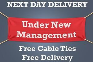 NEXT DAY DELIVERY Under New Management PVC Banner OUTDOOR SIGN Retail