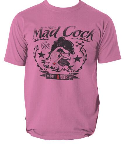 THE MAD COCK T shirt FUNNY RETRO POT BEER mens t-shirt tee S-3XL