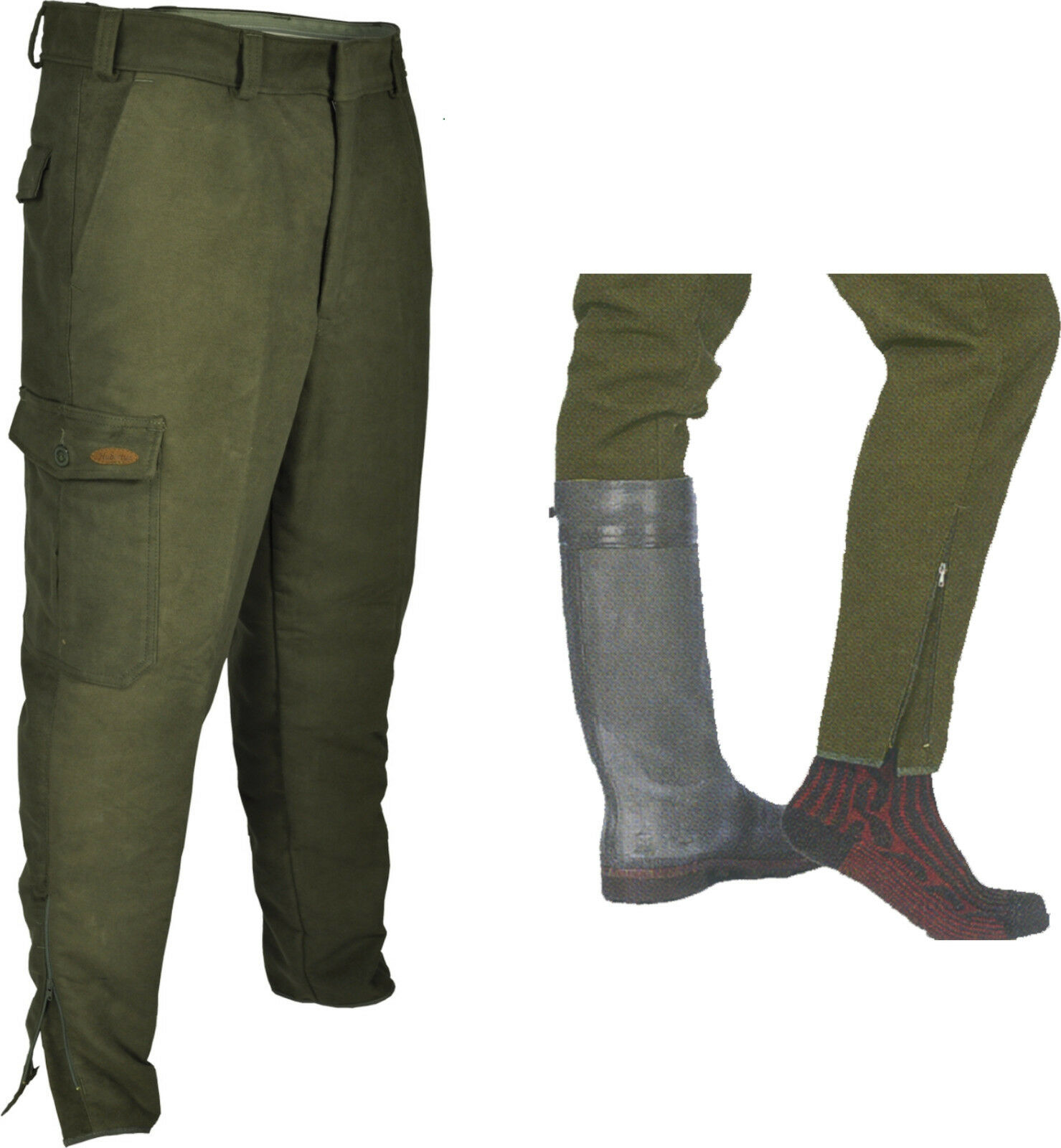 botas pantalones de velveton caza pantalones Hubertus