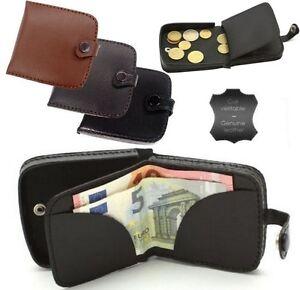Porte-Monnaie-Homme-Style-Cuvette-Bonne-Qualite-en-Croute-de-cuir