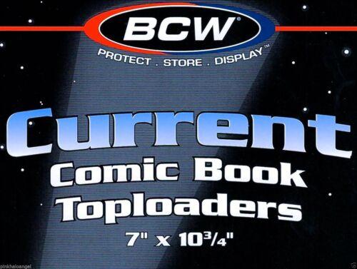 Rigid Toploaders 50 BCW NEW Current Modern Comic Hard Top loader Holders