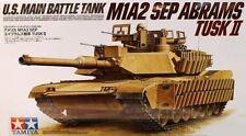 1:35 TAMIYA KIT CARRO ARMATO U.S. MAIN BATTLE TANK M1A2 SEP ABRAMS TUSK II 35326