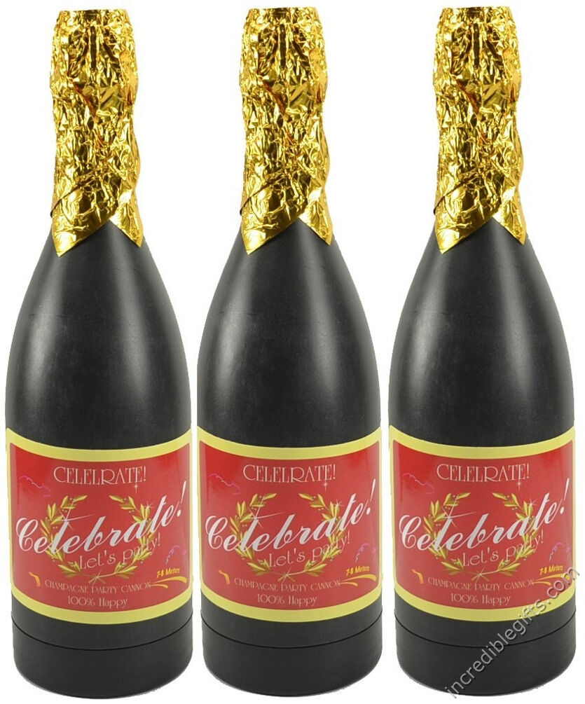 Botella de Champagne Confeti Fiesta Tirador de aire comprimido Diversión Popper 18  20 Pack