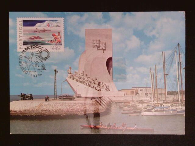 PORTUGAL MK 1978 SPORT RUDERN MAXIMUMKARTE CARTE MAXIMUM CARD MC CM c8170