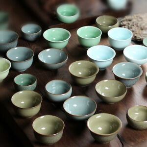 2pcs-longquan-celadon-porcelain-tea-cup-marked-brother-kiln-crackle-glaze-cups