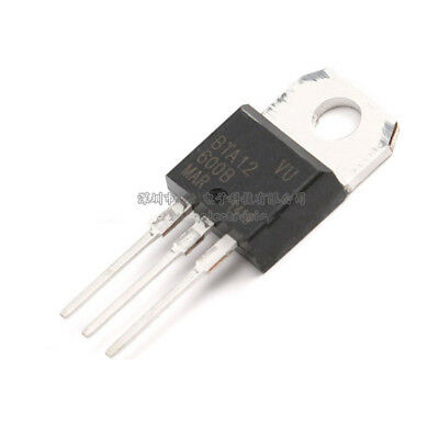 10p New ST BTA12-600B BTA12-600 12A Triac 600V TO-220
