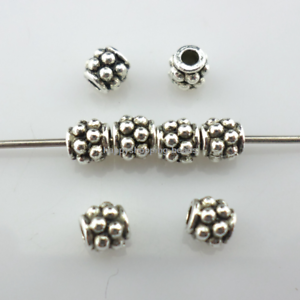100//300pcs Tibetan Silver//Gold Petit Tube Spacer Beads Crafts Charms 4x4mm