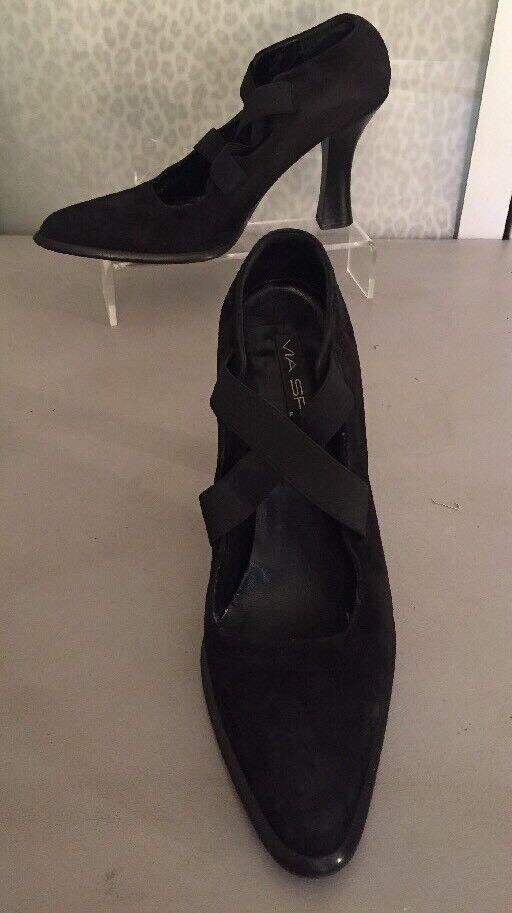 Women's Women's Women's 9 1 2 Black Suede Via Spiga Heels e23eeb