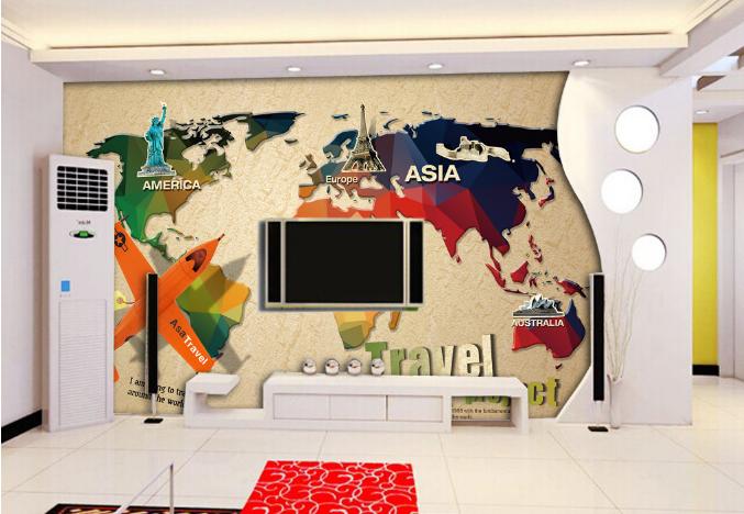3D Travel World Map 75 Wall Paper Murals Wall Print Wall Wallpaper Mural AU Kyra