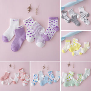 EG-5Pairs-Baby-Toddler-Boy-Girl-Cotton-Dots-Stripe-Breathable-Sports-Ankle-Sock