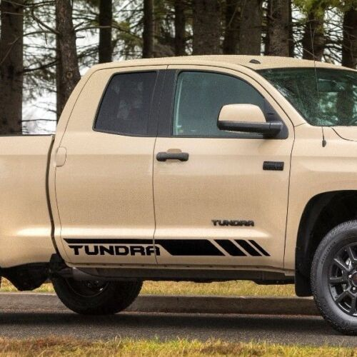 Toyota Tundra Double Cab 2016 graphics side stripe decal Model 2