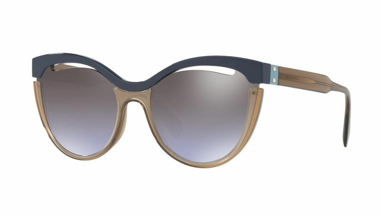 Miu Miu REVEAL EVOLUTION SMU02TS light havana//brown shaded 7S0-4P0 Sunglasses