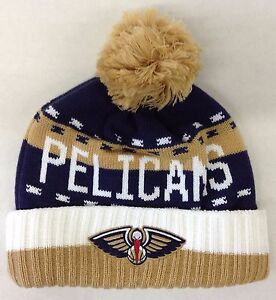 Details About Nba New Orleans Pelicans Adidas Cuffed Pom Winter Knit Hat Cap Beanie Kx04z New