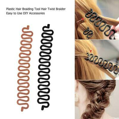 New Hot Wonder Sponge Hair Braider Twist Styling Bun Braid Tool Holder Clip Diy Ebay