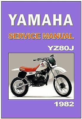 YAMAHA Workshop Manual YZ80 YZ80J 1982 VMX Maintenance Service & Repair