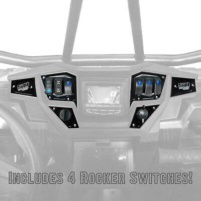 Rocker Switch Dash Panel Plates Custom for Polaris RZR Turbo Black 2017-2018