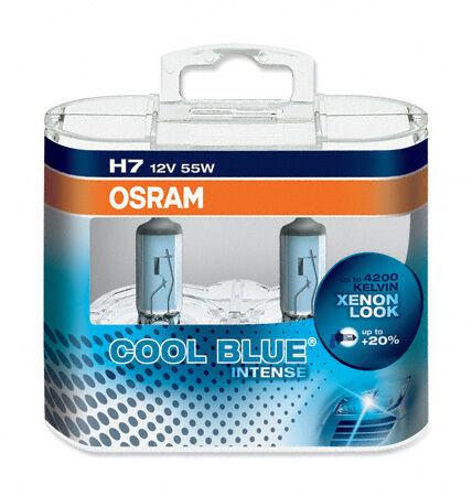 H7 Osram Cool Blue Intense RENAULT CLIO 172 182 CUP TROPHY 01-03 High Beam Bulbs
