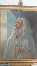 Peinture signée. Painting signed vieil homme orientaliste la casbah alger