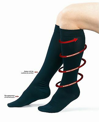 Flysafe™ Graduated Compression Travel Socks Class 1 15-19 mmHG Flight Socks