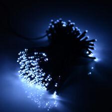 56ft White Solar Power 100 LED String Fairy Light For Outdoor Wedding Party Xmas