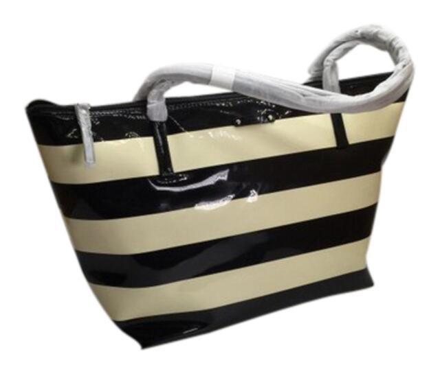 Kate Spade Penn Valley Sophie Tote Purse Handbag Shoulder Bag Black Cream