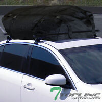 55 Black Window Frame Roof Rack Cross Bars Kit+waterproof Cargo Carrier Bag T02 on sale