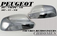 CHROME DOOR MIRROR COVER SIDE EXTERIOR CAP PEUGEOT 307 307CC CC SW 2001-2008 HDI