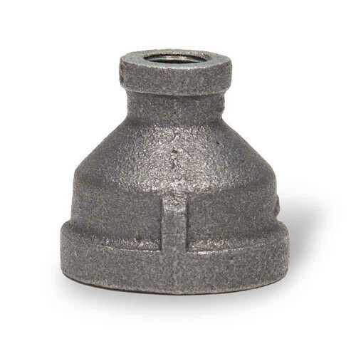 Everflow BMRC1002 1 X 1//2 Black Malleable Iron Reducing Coupling