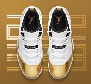 8c95dd39f40865 Nike Air Jordan 11 Retro Low Gold Closing Ceremony QS Sz 9.5 OVO ...