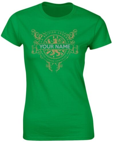 British Legend Your Text Personalised Womens T-Shirt 8 Colours by swagwea 8-20