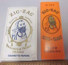 Made in France NOS Zig Zag Rolling Cigarette Paper Booklets Quality Gummed Paris