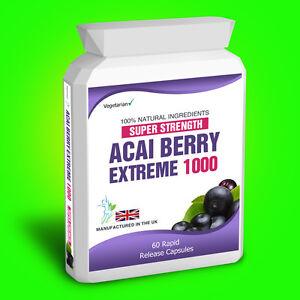 Acai-Berry-EXTREME-1000-Pura-Disintossicante-60-capsule-integratore-alimentare-Aiuto