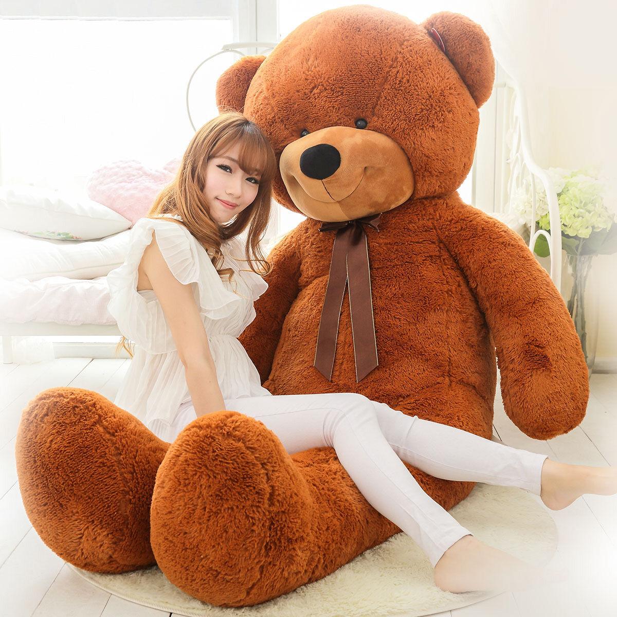2019 Newly 63  Giant Huge Large Stuffed Teddy Bear Plush Doll 160cm Soft Toys A+