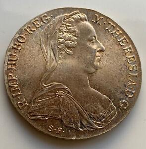 1780-Austria-MONETA-D-039-ARGENTO-TALLERO-MARIA-TERESA-MONETA-BUONO-Tono-Originale