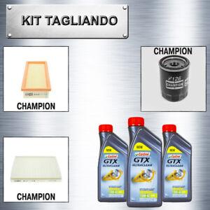 Kit-tagliando-Lancia-Ypsilon-1-2-benzina-44-e-51-kw-3lt-olio-castrol-gtx-10W40