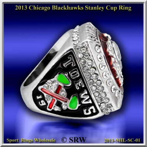 2013 CHICAGO BLACK HAWKS NHL Stanley Cup championship Ring Taille 10.5