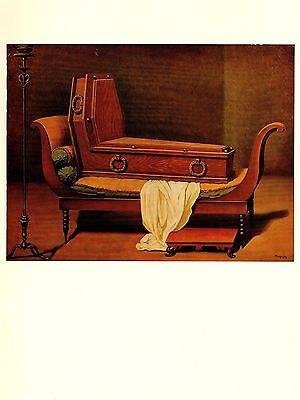 "1974 Vintage MAGRITTE /""MADAME RECAMIER BY DAVID/"" COLOR offset Lithograph"