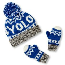 72f0075af2d item 8 TCP BABY BOY 2PC  YOLO KNIT FLEECE LINED HAT BEANIE MITTENS (GLOVES  SET S 12-24M -TCP BABY BOY 2PC  YOLO KNIT FLEECE LINED HAT BEANIE MITTENS  (GLOVES ...