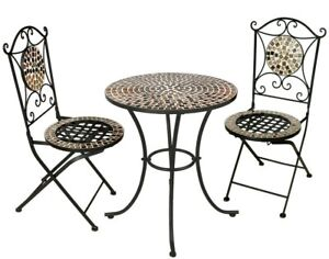 Garden-Kraft-Outdoor-Rose-Gold-Mosaic-Bistro-Mirror-Table-amp-Chairs-Set-3-Piece