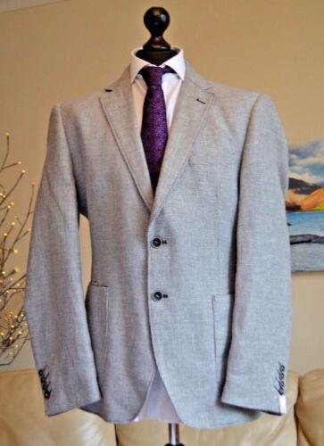 Cavani lino gris nuevo hombre chaqueta deportiva abrigo Sz traje mezcla  para texturizado rrYn0 b5411c47423