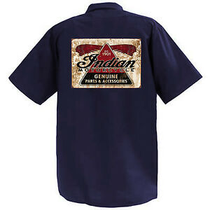 INDIAN-MOTORCYCLE-II-MECCANICA-Graphic-Work-Shirt-a-Manica-Corta
