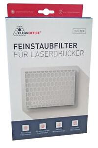 2x-Clean-Office-Ozon-Feinstaub-Filter-fuer-Laserdrucker